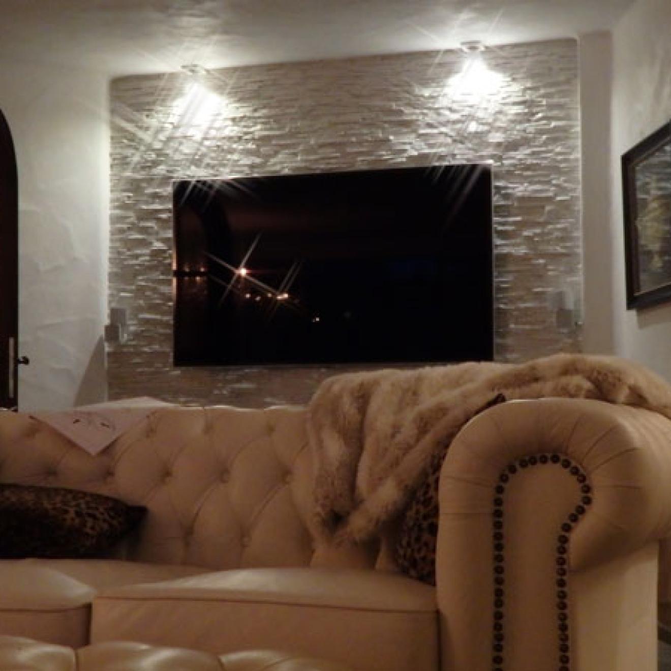 TV Fernseher Fernsehwand Steinwand LED und LCD (Steinoptik)